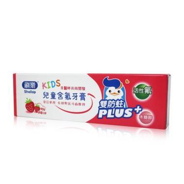 刷樂 兒童含氟牙膏-草莓90g