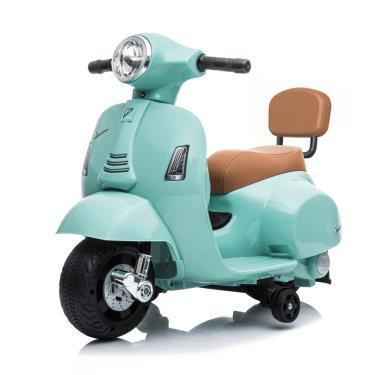 義大利 Vespa 迷你電動玩具車靠背款 綠色 (廠)