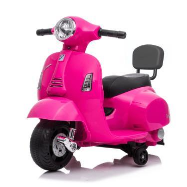 義大利 Vespa 迷你電動玩具車靠背款 粉色 (廠)