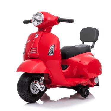 義大利 Vespa 迷你電動玩具車靠背款 紅色 (廠)