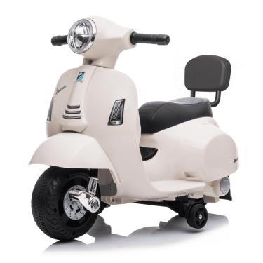 義大利 Vespa 迷你電動玩具車靠背款 白色 (廠)