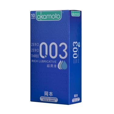 Okamoto岡本 003RL超潤滑 衛生套 (10入裝)