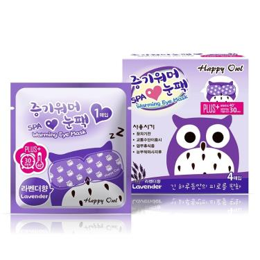 Happy Owl快樂貓頭鷹 蒸氣SPA眼罩-薰衣草4入