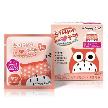 Happy Owl快樂貓頭鷹 蒸氣SPA眼罩-無香4入