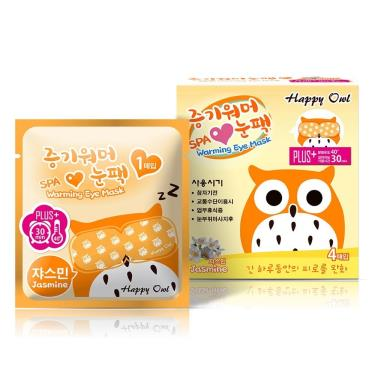 Happy Owl快樂貓頭鷹 蒸氣SPA眼罩-茉莉4入