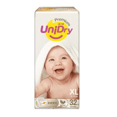 優力寶 柔緻寶貝黏貼型紙尿褲/尿布 XL32片x6包(箱購)