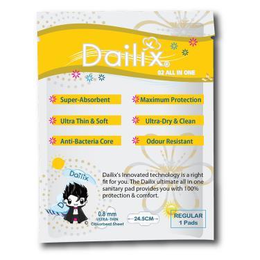 (超值優惠價) Dailix 吸血鬼超瞬吸抑菌淨味乾爽衛生棉-24.5cm隨身包