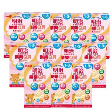 (送洗手露+推車)明治meiji 樂樂Q貝 1-3歲成長奶粉x12盒