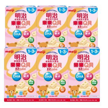 (送洗手露+擦手巾)明治meiji  樂樂Q貝 1-3歲成長奶粉x6盒