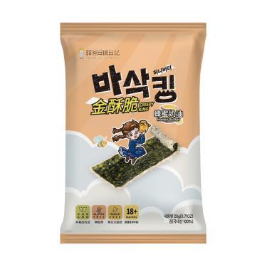 韓爸田園日記 金酥脆海苔片-蜂蜜奶油20g