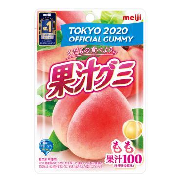 明治 果汁QQ糖-白桃口味51g