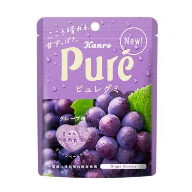 日本 甘樂鮮果實軟糖-葡萄口味56g(包裝隨機出貨)