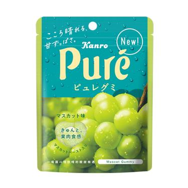 日本 甘樂鮮果實軟糖-白葡萄口味56g(包裝隨機出貨)