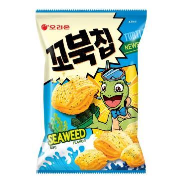 好麗友 烏龜玉米脆片(海苔味)80g