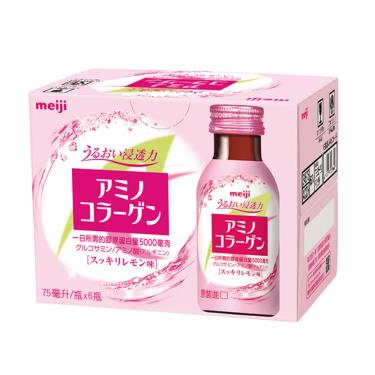 明治 膠原蛋白飲-檸檬口味-75ml*6入