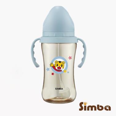 小獅王辛巴-巧虎PPSU寬口吸管把手中奶瓶270ml-藍