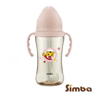 小獅王辛巴-巧虎PPSU寬口吸管把手中奶瓶270ml-粉
