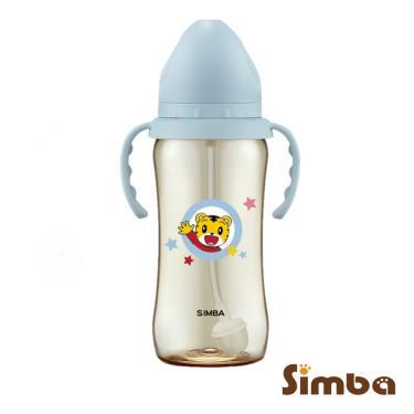 小獅王辛巴-巧虎PPSU寬口吸管把手大奶瓶-360ml-藍