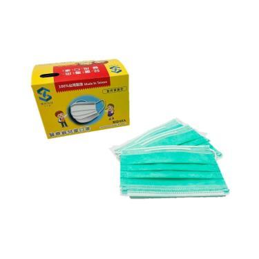 善存 兒童雙鋼印醫用口罩(未滅菌) 薄荷綠 50入/盒