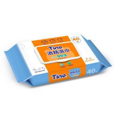 Tino 酒精濕巾 40抽/包