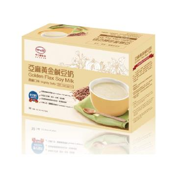 呷七碗生技 亞麻黃金鹹豆奶(30gx10入)