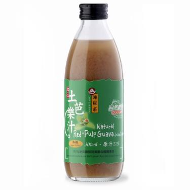 陳稼莊即飲紅心芭樂汁(加糖) 300ml