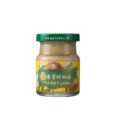 自然食 Natural10 犬貓香草鮮肉罐牛肉蘋果65g