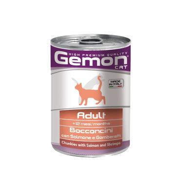 gemon貓主食罐鮭魚+蝦415g