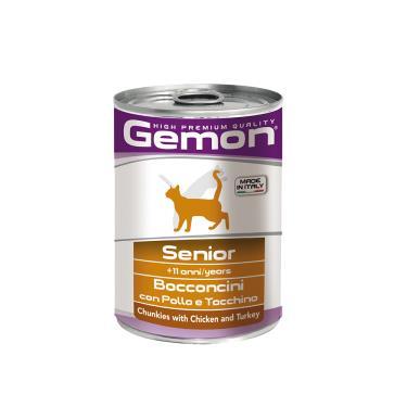 gemon貓主食罐雞肉+火雞415g
