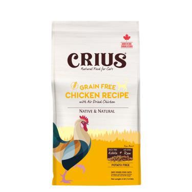 CRIUS 克瑞斯 貓無榖飼料-雞肉鮮肉塊4lb