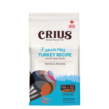 CRIUS 克瑞斯 貓無榖飼料-火雞肉鮮肉塊1lb