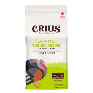 CRIUS 克瑞斯 犬無榖飼料-火雞肉鮮肉塊15lb