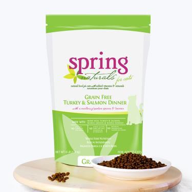 Spring曙光 天然貓無穀餐食-火雞肉鮭魚4lb