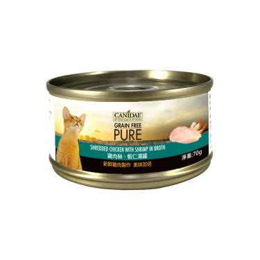 CANIDAE  貓無穀主湯罐-雞絲+蝦仁70g