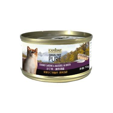 CANIDAE  貓無穀主湯罐-沙丁魚+鯖70g
