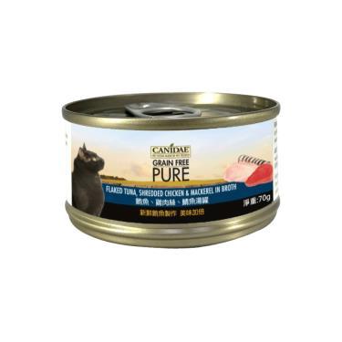 CANIDAE  貓無穀主湯罐-鮪+雞絲+鯖70g