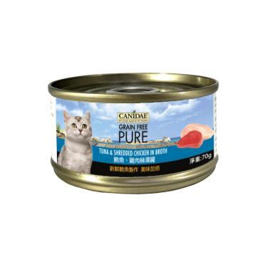 CANIDAE  貓無穀主湯罐-鮪魚+雞絲70g