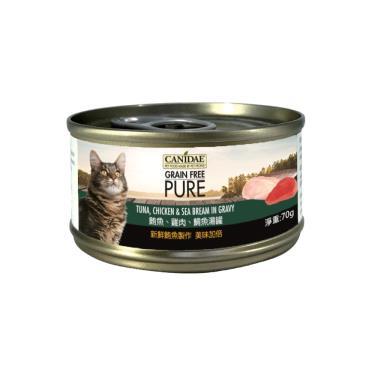 CANIDAE  貓無穀主湯罐-鮪+雞+鯛70g
