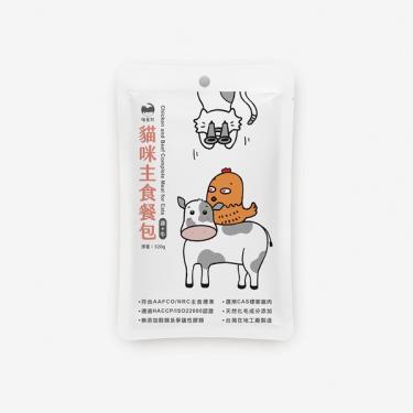 喵皇奴貓咪主食餐包-雞肉+牛肉320g