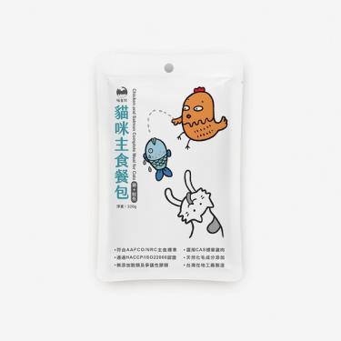 喵皇奴貓咪主食餐包-雞肉+鮭魚320g