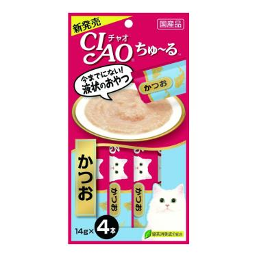 CIAO 啾嚕肉泥-鰹魚14g*4入