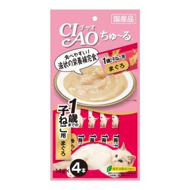 CIAO 啾嚕幼貓肉泥-鮪魚14g*4入/包 日本製