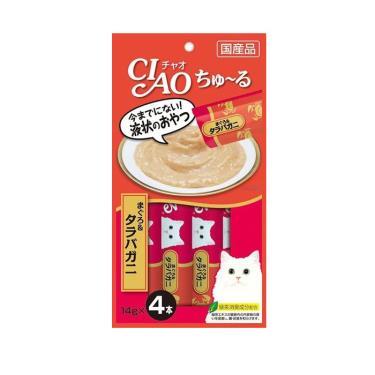CIAO 啾嚕肉泥-鮪魚+鱈場蟹14g*4入/包 日本製