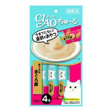 CIAO 啾嚕肉泥-鮪魚+柴魚片14g*4入/包 日本製