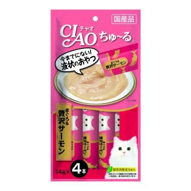 CIAO 啾嚕肉泥-鮪魚+鮭魚14g*4入/包 日本製