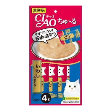 CIAO 啾嚕肉泥-沙丁魚+鮪魚14g*4入/包 日本製