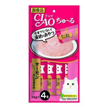 CIAO 啾嚕肉泥-鮭魚+雞肉14g*4入/包 日本製