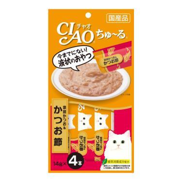 CIAO 啾嚕肉泥-鰹魚+柴魚片14g*4入/包 日本製