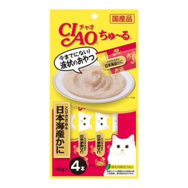 CIAO 啾嚕肉泥-雞肉+日本蟹14g*4入/包 日本製