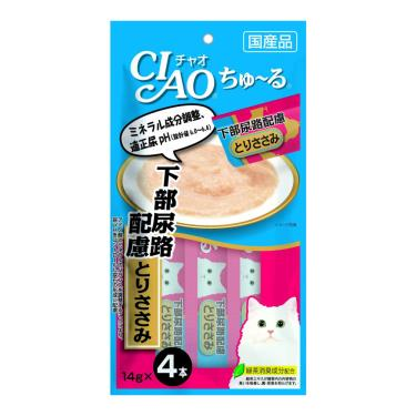 CIAO 啾嚕肉泥-下部尿路配慮雞肉14g*4入/包 日本製